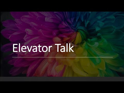 an elevator talk about the project by Haylee Beish